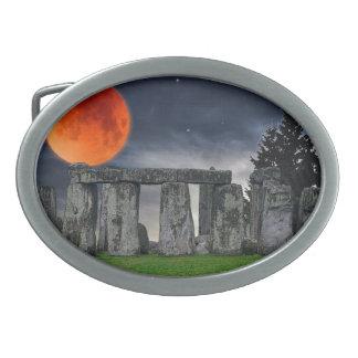 Stonehenge Celtic Standing Stones in Britain Belt Buckle