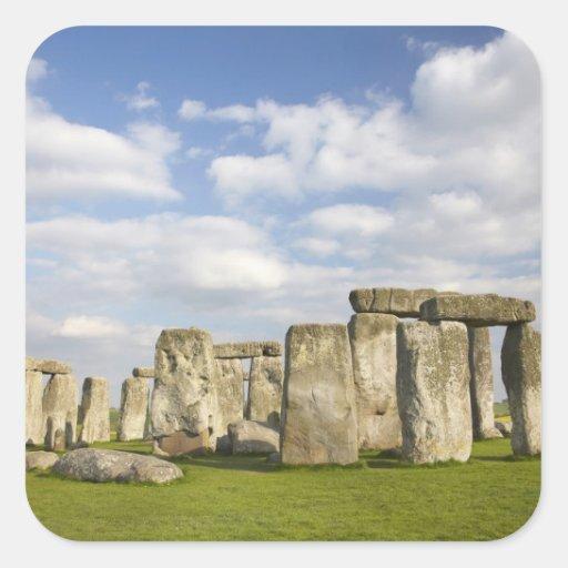 Stonehenge (circa 2500 BC), UNESCO World 2 Square Sticker