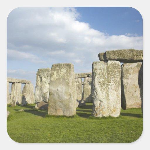 Stonehenge (circa 2500 BC), UNESCO World 3 Square Sticker