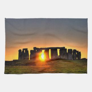 Stonehenge colour photograph. tea towel
