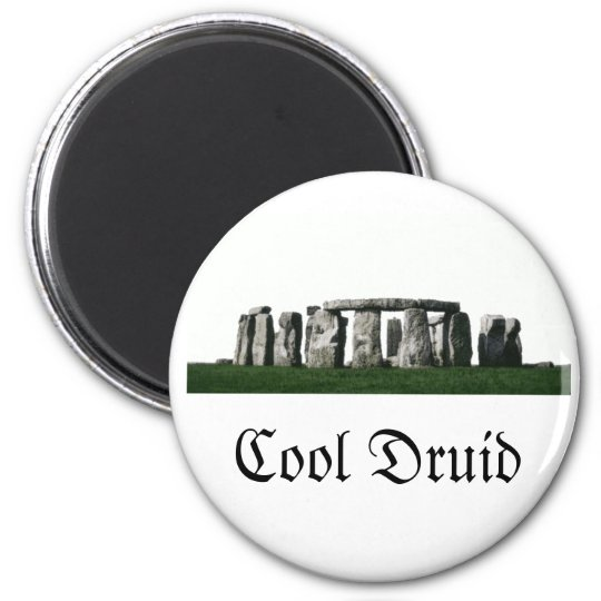 Stonehenge - Cool Druid 6 Cm Round Magnet
