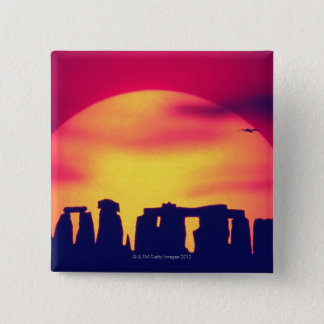 Stonehenge, England 2 15 Cm Square Badge