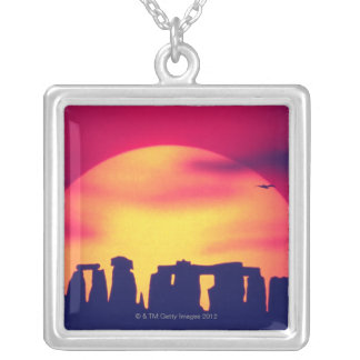 Stonehenge, England 2 Silver Plated Necklace