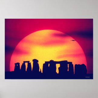 Stonehenge, England 3 Poster