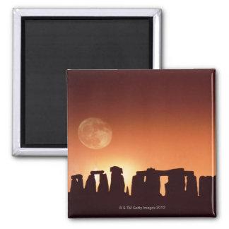 Stonehenge, England 3 Square Magnet