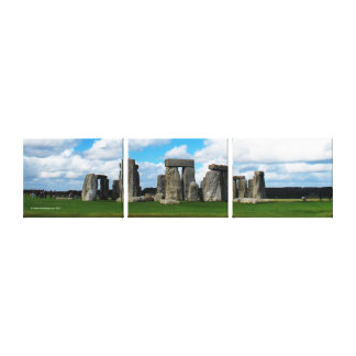 Stonehenge England Panoramic Gallery Wrapped Canvas