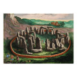 Stonehenge from Atlas Van Loon 1649 Custom Invitations
