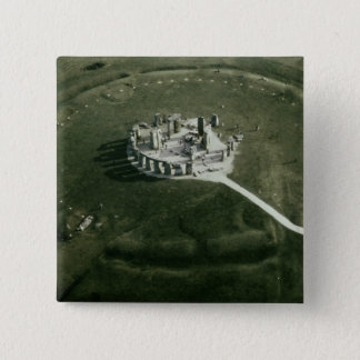 Stonehenge from the air 15 cm square badge