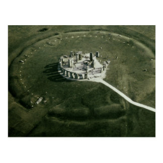 Stonehenge from the air postcard