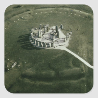 Stonehenge from the air square sticker