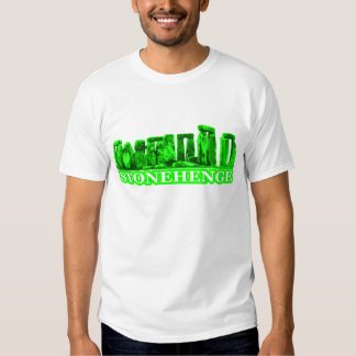 Stonehenge Green White The MUSEUM Zazzle Gifts Shirt