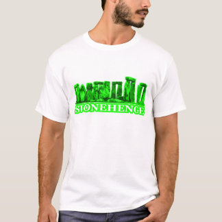 Stonehenge Green White The MUSEUM Zazzle Gifts T-Shirt