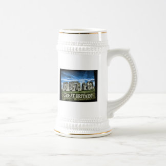 Stonehenge Image with  Caption Great Britain Beer Stein