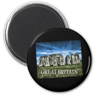 Stonehenge Image with Caption Great Britain Fridge Magnets