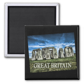 Stonehenge Image with Caption Great Britain Magnets