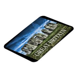 Stonehenge Image with Caption Great Britain Rectangular Magnets