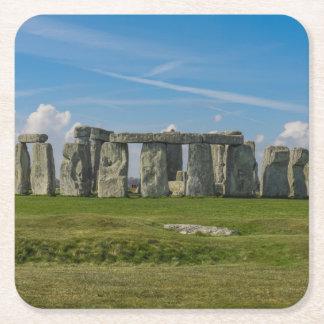 Stonehenge in England Square Paper Coaster