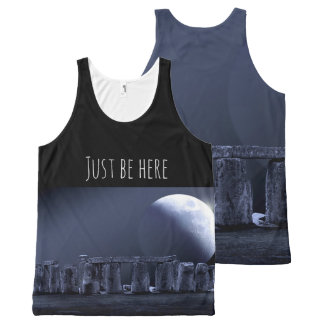 STONEHENGE JUST BE HERE Mindfulness Gift Moonlight All-Over Print Tank Top