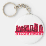 Stonehenge Magenta transp The MUSEUM Zazzle Gifts Key Chains