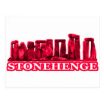 Stonehenge Magenta transp The MUSEUM Zazzle Gifts Postcard