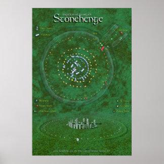 Stonehenge Map Poster