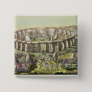 Stonehenge, or a Circular Temple of the Druids, pl 15 Cm Square Badge