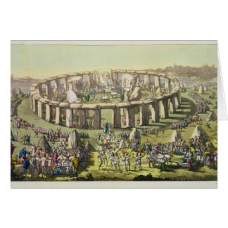 Stonehenge, or a Circular Temple of the Druids, pl Card