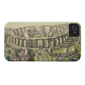 Stonehenge, or a Circular Temple of the Druids, pl iPhone 4 Case-Mate Cases