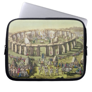 Stonehenge, or a Circular Temple of the Druids, pl Laptop Sleeve