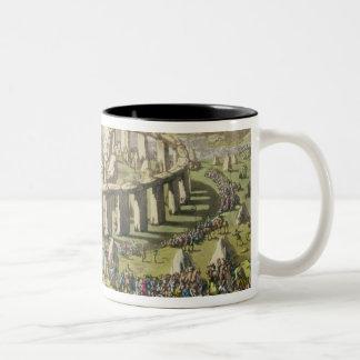 Stonehenge, or a Circular Temple of the Druids, pl Two-Tone Coffee Mug