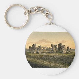 Stonehenge, Salisbury, England rare Photochrom Key Ring