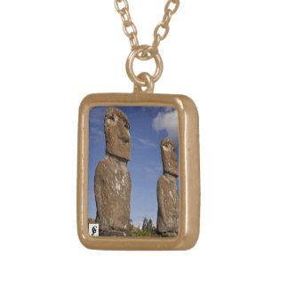 Stonehenge square Necklace custom Gold Finish