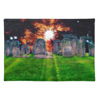 Stonehenge Standing Stones at Star Rise Place Mats