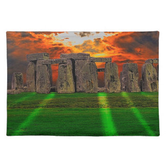 Stonehenge Standing Stones at Sunset Placemat