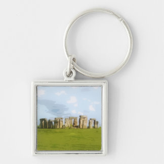 Stonehenge Stone Circle Monument Key Ring