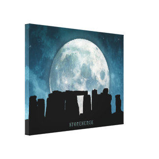 Stonehenge Stretched Canvas Print