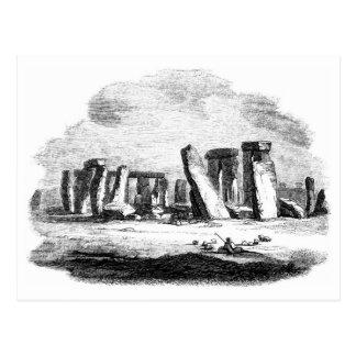 Stonehenge vintage art posctard postcard