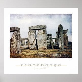 Stonehenge Watercolor Art Print