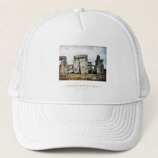 Stonehenge Watercolor Art Trucker Hat