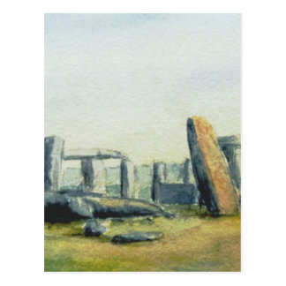 Stonehenge Watercolours Postcard