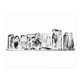 Stonehenge White The MUSEUM Zazzle Gifts Postcard