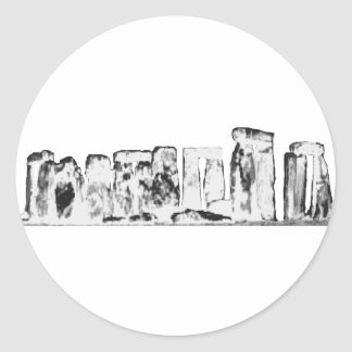 Stonehenge White The MUSEUM Zazzle Gifts Round Stickers