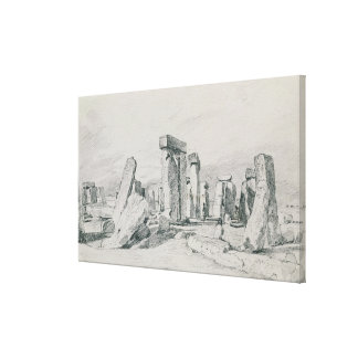 Stonehenge, Wiltshire, 1820 (drawing) Canvas Print