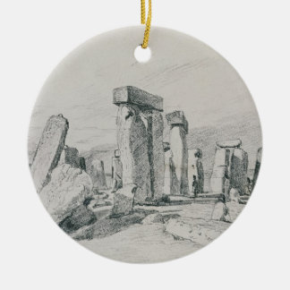 Stonehenge, Wiltshire, 1820 (drawing) Christmas Ornament