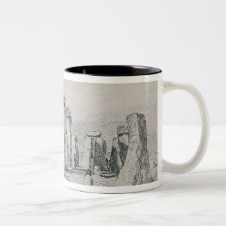 Stonehenge, Wiltshire, 1820 (drawing) Two-Tone Coffee Mug