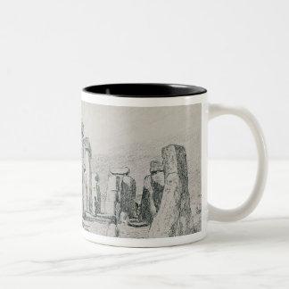 Stonehenge, Wiltshire, 1820 (drawing) Two-Tone Mug