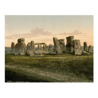 Stonehenge, Wiltshire, England c.1895 Postcard