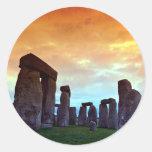 Stonehenge, Wiltshire, England Round Sticker