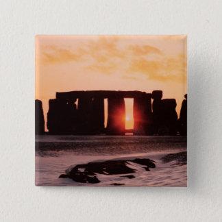 Stonehenge, Winter Solstice 15 Cm Square Badge