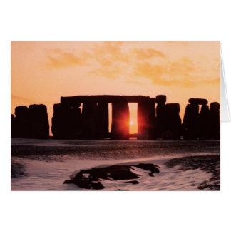 Stonehenge, Winter Solstice Greeting Card